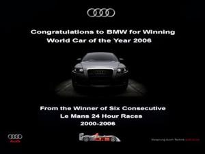 Audi - Ad congrats BMW