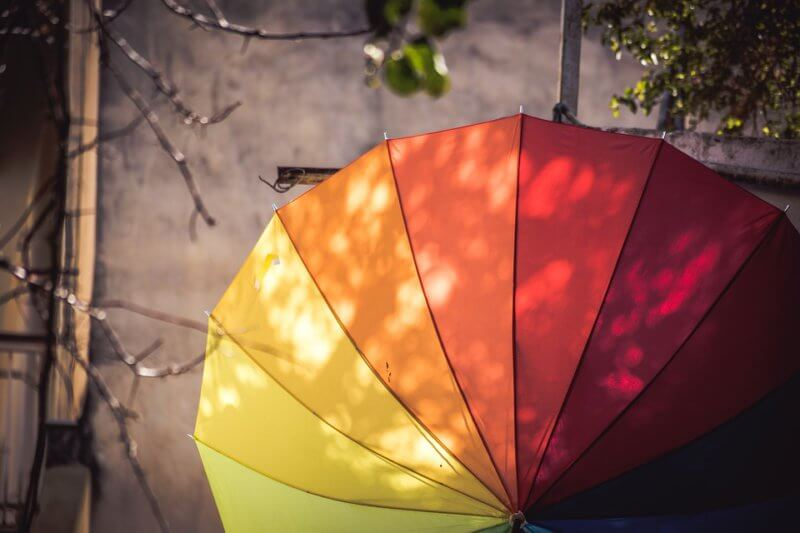 reusing old beach umbrellas