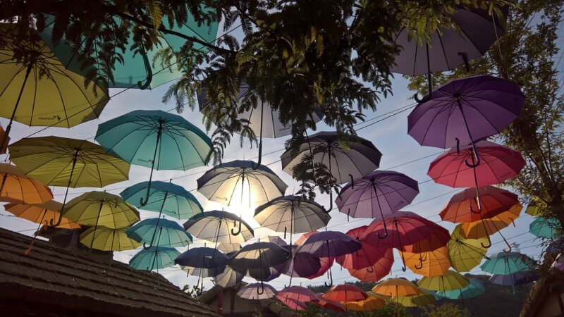 reusing old umbrellas