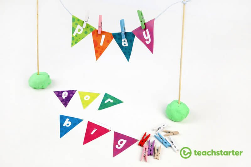 using bunting flags for education