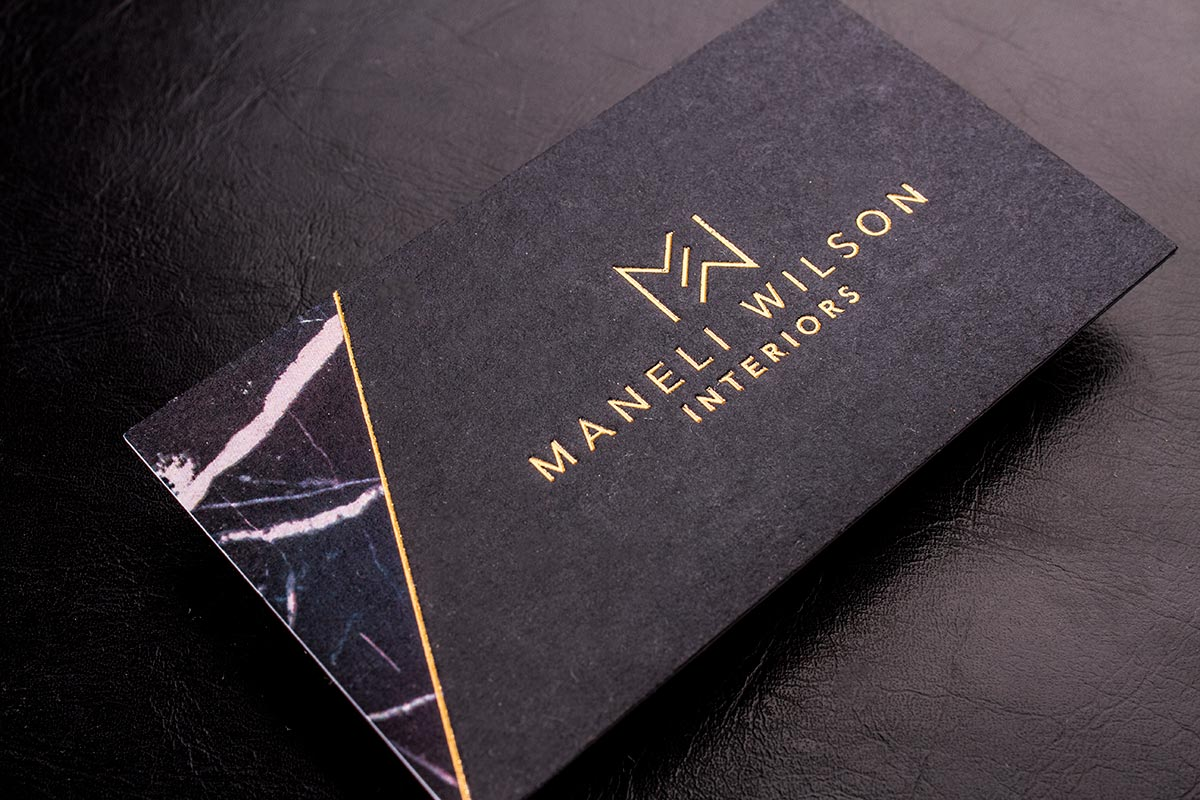Colour Meanings and Business Card Design - Black