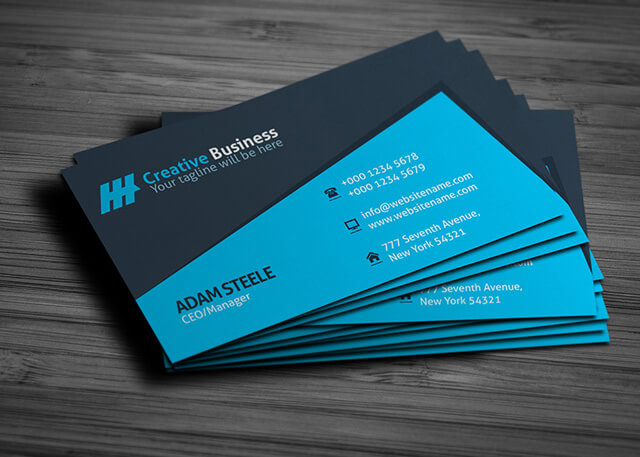 Colour Meanings and Business Card Design - Blue