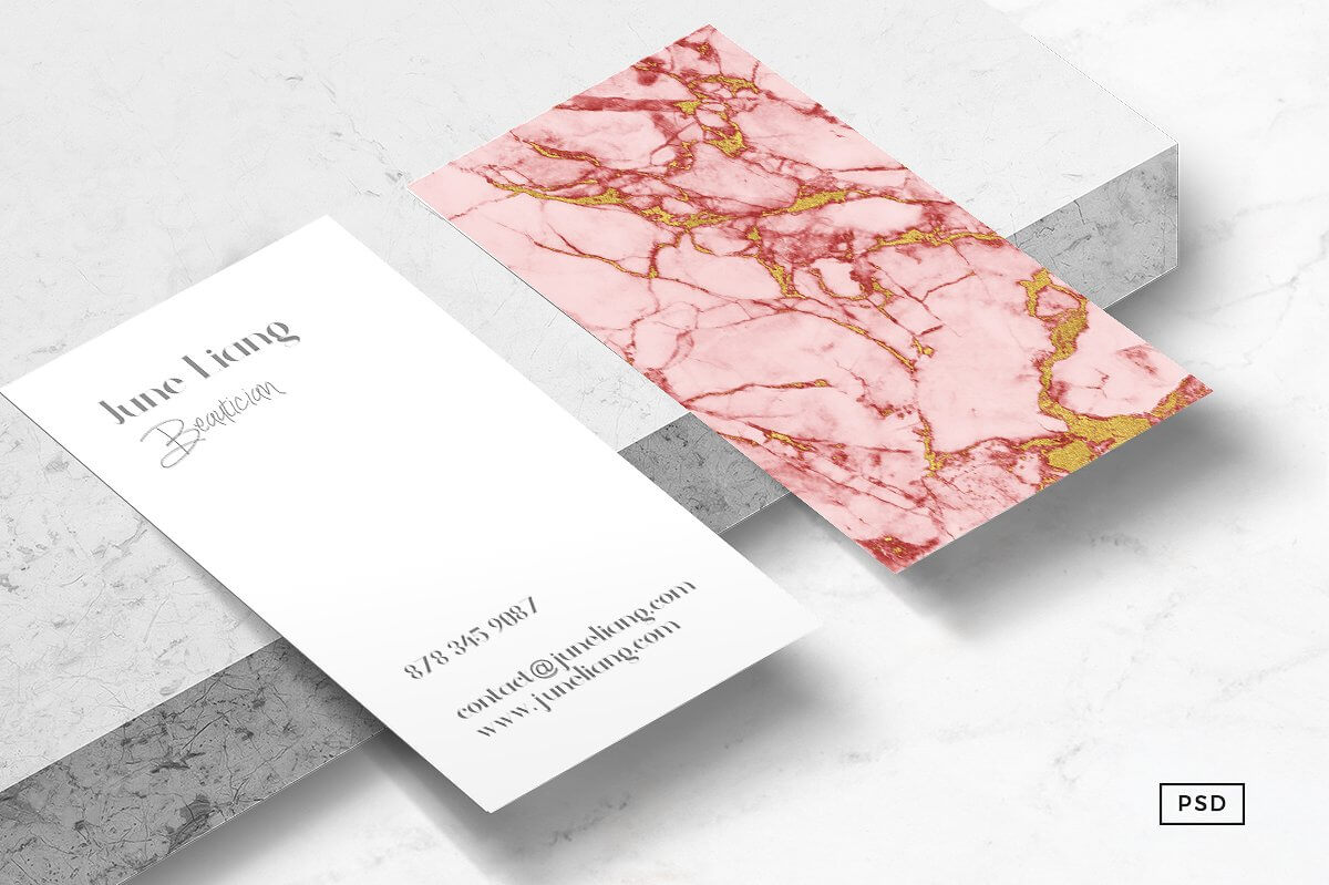 Colour Meanings and Business Card Design - Pink