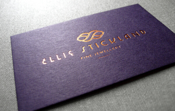 Colour Meanings and Business Card Design - Purple
