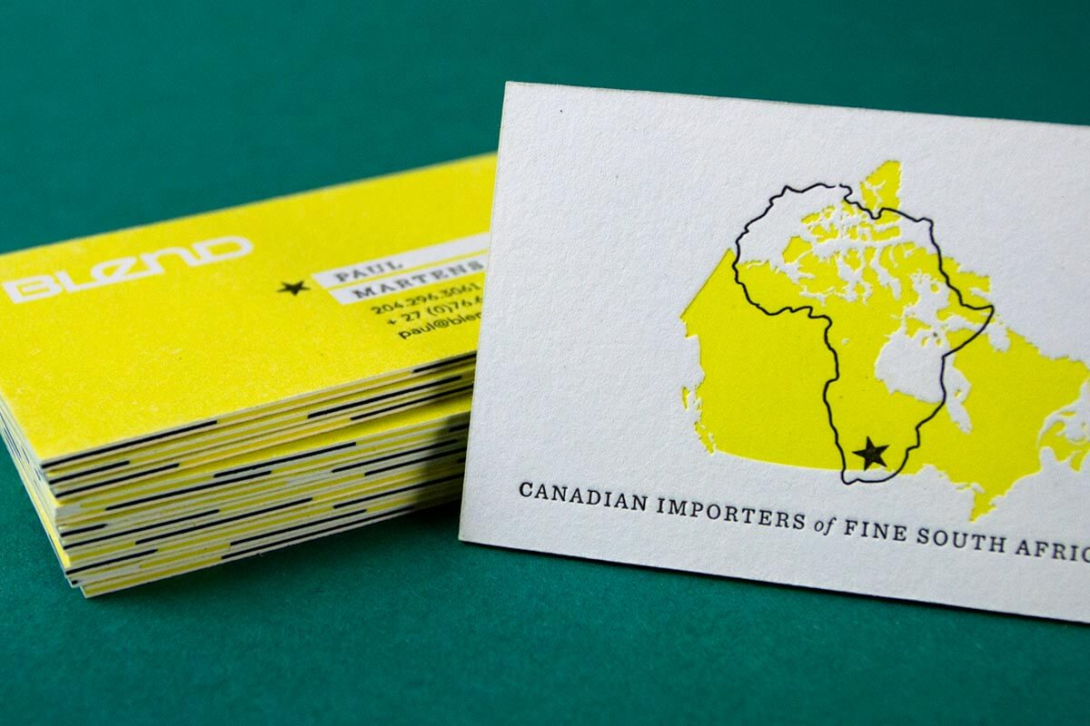 Colour Meanings and Business Card Design - Yellow