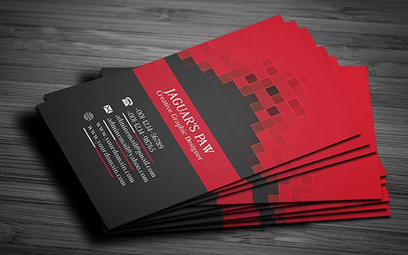 Colour Meanings and Business Card Design - Red